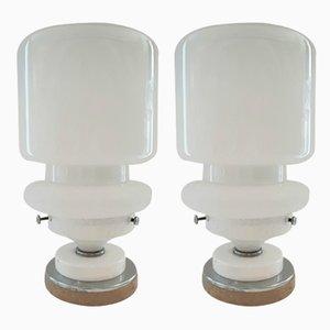Italienische Murano Glas Tischlampen, 1970er, 2er Set