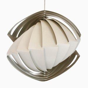 Lámpara colgante Konkylie vintage de Louis Weisdorf para Lyfa, años 60