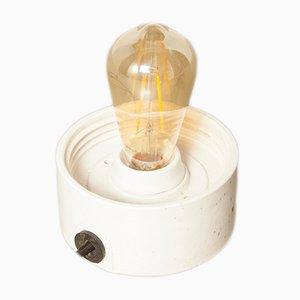 Weiße Deckenlampe aus Porzellan, 1920er
