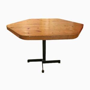 Tavolino esagonale Les Arcs 1600 di Charlotte Perriand, 1969