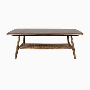 Tavolino da caffè vintage in legno di olmo massiccio di Lucian Ercolani per Ercol, anni '60