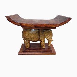 Vintage Wooden Ashanti Stool, 1950s