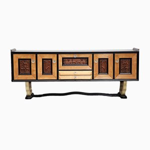 Vintage Walnut Bar Sideboard, 1930s
