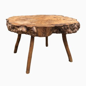 Rustic Tree Trunk Coffee Table, 1970s