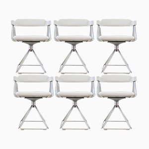 Model Delta Dining Chairs by Rudi Verelst for Novalux, 1970s, Set of 6