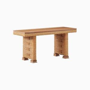 Table Basse Vintage en Corde par Adrien Audoux & Frida Minet pour Vibo, France