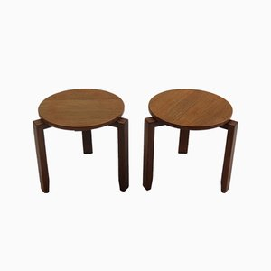 Afromosia and Teak Stackable Side Tables, 1960s, Set of 2