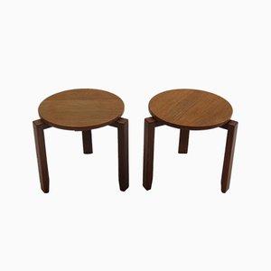 Tavolini impilabili in afrormosia e teak, anni '60, set di 2