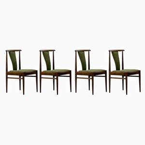 Palisander Esszimmerstühle von Lübke, 1970er, 4er Set