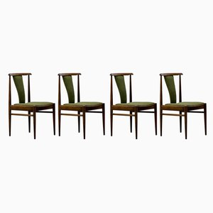 Rosewood Dining Chairs from Lübke, 1970s, Set of 4