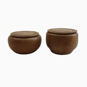 Pots en Hêtre, 1970s, Set de 2