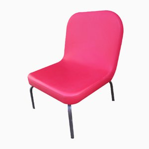 Vintage Red Leatherette Dining Chair, 1980s