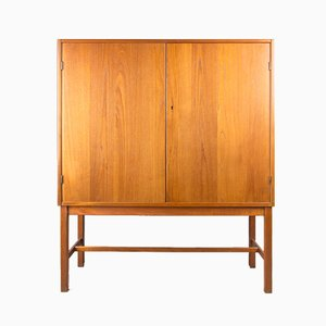 Mid-Century Teak Bar Cabinet by Nils Jonsson for Hugo Troeds, 1960s
