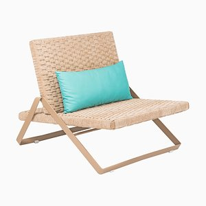 Chenille Rope Dobra Lounge Chair by Filipe Ramos