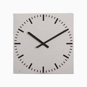 Reloj de estación o fábrica industrial vintage grande, años 70