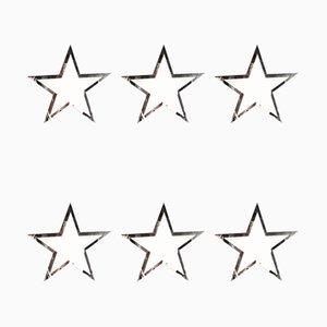 Arazzi decorativi con stelle, anni '80, set di 6