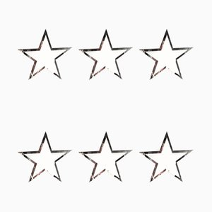 Decorative Star Wall Hangings, 1980s, Set of 6