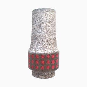 Vaso Op Art in ceramica di Jasba, anni '60