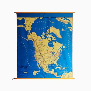 Doppelseitige Amerika Karte von Störmer-Verlag Vlotho, 1960er