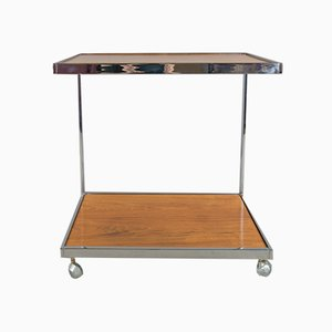 Mid-Century Teak & Chrome Trolley by Howard Miller, 1960s
