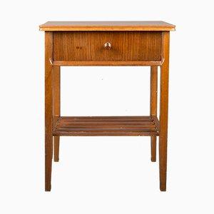 Vintage Walnuss Furnier Nachttisch von Vanson, 1960er