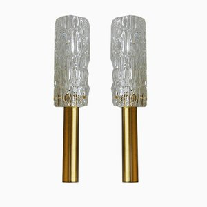 French Bubble Glass Sconces, 1960s, Set of 2