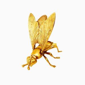 Scultura di vespa in ottone, anni '60