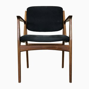 Vintage Danish Teak & Fabric Ella Armchair by Arne Vodder for Vamø, 1960s