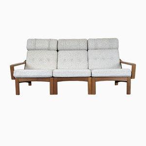 Dänisches Modernes Dänisches Teak & Stoff Sofa von Glostrup, 1960er