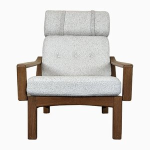 Vintage Danish Teak and Fabric Lounge Chair from Glostrup, 1960s