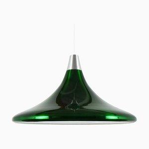 Lampada in alluminio verde di Philips, anni '60
