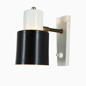 Black and White Metal Sconce from Hala, 1960s