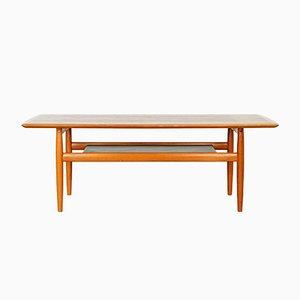 Table Basse Scandinave Vintage en Teck, 1960s