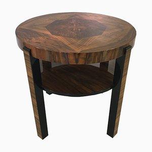 Tavolino Art Deco vintage in radica di legno, Francia, anni '20