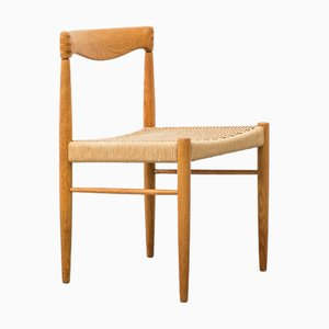 Vintage Norwegian Oak Dining Chair by H. W. Klein for Bramin, 1960s
