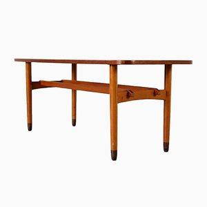 Table Basse Vintage Scandinave en Merisier, 1960s