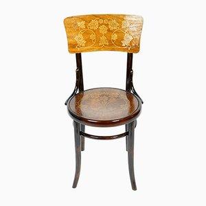Chaise de Salle à Manger Antique en Bois Courbé de Jacob & Josef Kohn