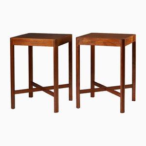 Vintage Swedish Side Tables by Stig Lönngren for Hi-Gruppen, 1969, Set of 2