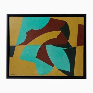 Peinture Moderniste par Harry Booström, Suède, 1953