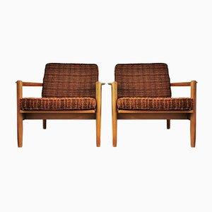 Vintage Eichenholz Sessel, 2er Set