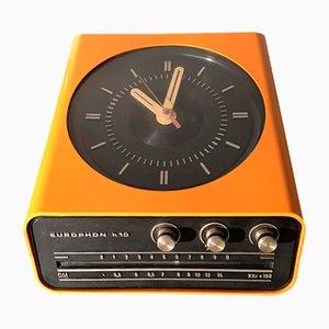 Vintage Italian Plastic H10 Clock Radio by Adriano Rampoldi for Europhon, 1960s