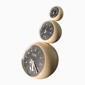 Horloge Poussée et Station Météo Vintage de Life Style Concept, 1970s