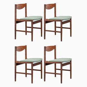Englische Mid-Century Teak Esszimmerstühle von Ib Kofod Larsen für G-Plan, 1960er, 4er Set
