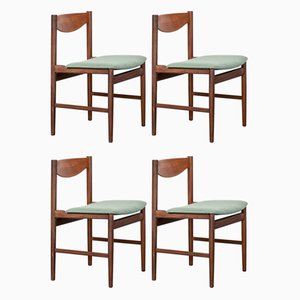 Mid-Century English Teak Dining Chairs by Ib Kofod Larsen for G-Plan, 1960s, Set of 4