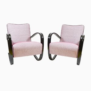 Art Deco Czechoslovakian Armchairs by Jindřich Halabala for Thonet, 1930s, Set of 2