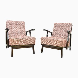 Vintage Czechoslovakian Armchairs, 1950s, Set of 2