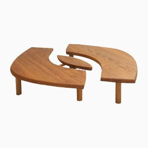 Vintage T22 Coffee Table by Pierre Chapo, 1970s