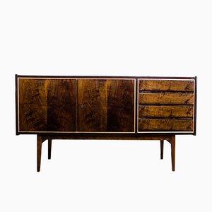 Walnuss Sideboard von S. Albracht für Bydgoskie Furniture Factories, 1972