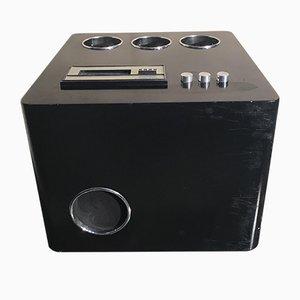 Vintage Bar Beistelltisch mit Stereoanlage, 1960er
