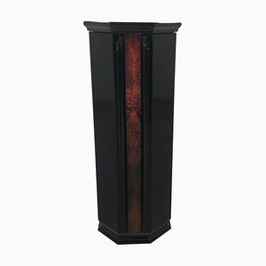 Vintage Art Deco French Column Cabinet, 1920s